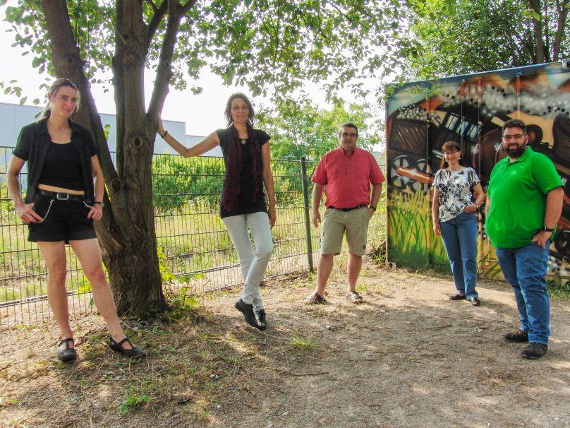 Die ersten fünf auf unserer Liste für die Bezirksvertretung Südost - von links: Anja Tepe, Daphne Wurzbacher, Ralph Buzug, Christine Schulz, Dirk Wimmer